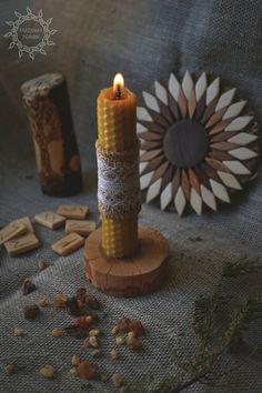 "Altar candle. Свеча из вощины ""Алтарная"". https://www.livemaster.ru/item/19478131-fen-shuj-i-ezoterika-svecha-iz-voschiny-altarnaya"