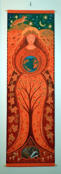 Beautiful Earth Goddess - Fabric Hanging from the wonderful Wendy Andrews
