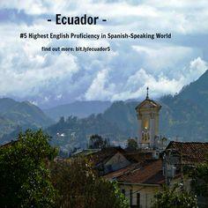 #Ecuador - 5th Best #English (dominio del #ingles) in #Spanish-Speaking World. Learn more at http://espanol.businessenglishace.com/ecuador5