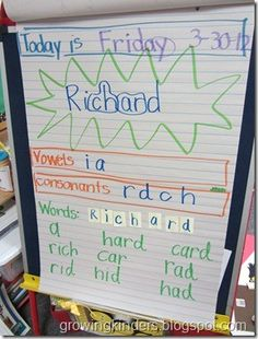 Great idea to practice names & phonics!