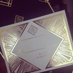 Art Deco Great Gatsby Wedding Invitation Detail