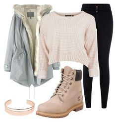"""Untitled #1102"" by pinkunicorn007 ❤ liked on Polyvore featuring Wrap, Leith, New Look and Timberland"
