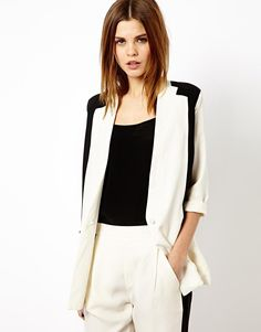 Y.A.S | Y.A.S Amaze Blazer in Monochrome at ASOS