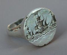 Ships wax seal ring   Essentials (men's accessories), visit http://www.pinterest.com/davidos193/