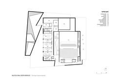 Image 34 of 41 from gallery of Multicultural Centre in Isbergues / Dominique Coulon & Associés. First Floor Plan Calais France, Centre, Ground Floor Plan, Dominique, Floor Plans, How To Plan, Gallery, Pictures, Theater