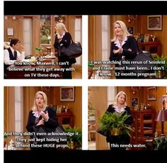 Haha I loved this part! The nanny! Cc was pregnant ALL THE TIME and no one ever said anything lol Tv Show Quotes, Movie Quotes, Funny Puns, Hilarious, Fran Fine, Seriously Funny, Classic Tv, Best Tv, The Funny