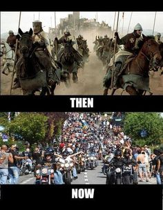 Then and Now - 2 Million Bikers to DC