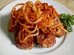 Lyoni szűzérmék | Józsi konyhája Lyon, Bors, Chili, Spaghetti, Ethnic Recipes, Chile, Chilis, Capsicum Annuum