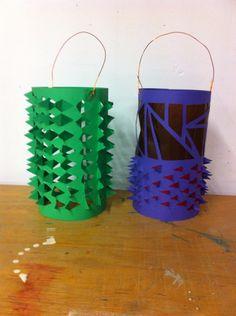 Lampionnen gemaakt door groep 8 voor st Maarten