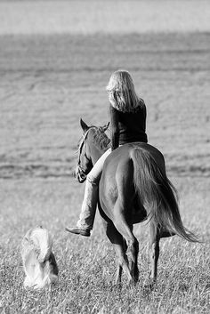 All a girl needs is her horse and dog
