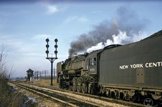 New York Central Railroad, Railroad Photography, Train Pictures, Steam Engine, Steam Locomotive, Places To Go, Nyc, Retro, Trains