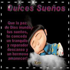 Gifs Kete: ¡¡Feliz Noche... Que la paz de Dios inunde tus sueños, te conceda un tranquilo y reparador descanso y un hermoso amanecer!