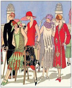 Art Deco Fashion - Spring 1925 - Designers: Gustav Beer, Doucet, Paul Poiret...