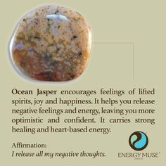 °Ocean Jasper encourages feelings of lifted spirits, joy & happiness. It helps you to release negative feelings & energy, leaving you more optimistic & confident. It also carries a strong healing, heart-based energy.
