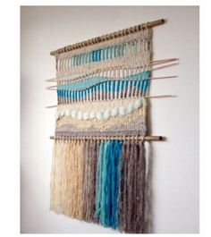 Weaving Textiles, Weaving Art, Tapestry Weaving, Loom Weaving, Hand Weaving, Weaving Wall Hanging, Creative Textiles, Art Textile, Weaving Projects