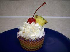 pina colada cocktail cupcakes