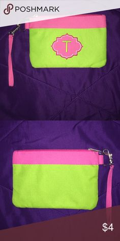 Pink and Green wristlet 10/10 condition Bags Clutches & Wristlets
