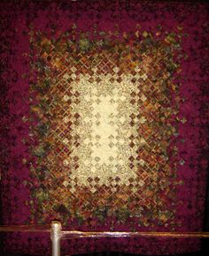 Plum Crazy by Jennifer Mees, Mountain Top Quilters Guild. 2011   Arizona quilt show.  The amazing colors of the plum trees in Prescott, Arizona, inspired this quilt.  Photo by Quilt Inspiration.