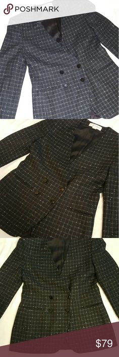 Black houndstooth blazer Jones New York houndstooth blazer in excellent condition, like new. Jones New York Jackets & Coats Blazers