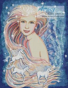 Unicorn Dreams Cross Stitch Pattern http://www.artecyshop.com/index.php?main_page=product_info&cPath=74_76&products_id=935