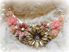 Upcycled Statement Necklace Reclaimed by urbanaccessories4u, $42.99