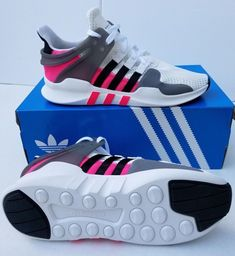 00c8868ff69 Adidas Originals EQT Support Adv J Youth White Black Shock Pink BY9868   Adidas