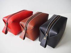 85c53018f7af3 Leather Cosmetic Bag Leather Makeup Bag Leather Makeup | Etsy Skórzane,  Poradnik Diy, Backpacks