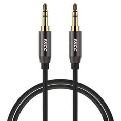 Deals week Aux Cable 6 Feet iXCC Auxiliary Stereo Audio Cable Male to Male with Gold-plated Connector for All Aux Jack Devices Apple Samsung Android Windows Smartphones Tablets and Players - Gray Best Selling Audio Connection, Portable Speaker System, Aux Cord, Output Device, Male To Male, Ipad Mini 3, Chromebook, 6s Plus, Android Windows