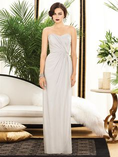 2882 - love the gathering on this bridesmaid dress
