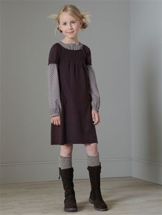 robe maille manches coretes. would love this on my daughter. or me.