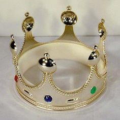 new KING CROWNS W JEWELS royal party supplies toys CROWN costume hat novelty