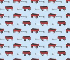 My_Little_Red_Wagon fabric by 483ink on Spoonflower - custom fabric