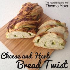 A delicious cheese and herb bread twist that is made easily in your thermomix or by hand. Bread Improver, Bread Twists, Thermomix Bread, Bellini Recipe, Herb Bread, Cheese Cubes, Lunch Box Recipes, How To Make Bread, Tray Bakes