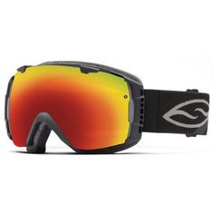 Smith Snow Goggle IO Black Red Sol X Mirror