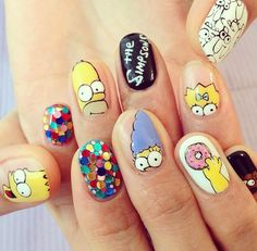 The Simpsons nails