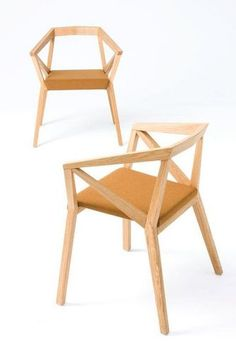 Silla moderna de madera con brazos - YY by For Use/ Numen - ArchiExpo