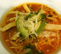 Drick's Rambling Cafe: Chicken Tortilla Soup Recipe... so good with leftover chicken or turkey..
