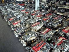 "SR20DET Garage. Dayum i thought my hubby had alot of sr""s lol"