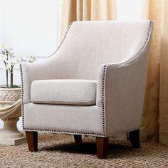 Abbyson Living Kimberly Fabric Nailhead Trim Armchair