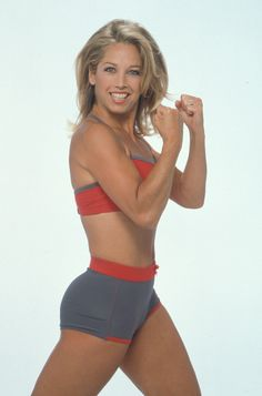 Denise Austin is 55 in this picture. Very good workouts from Denise Austin !