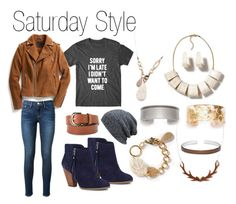 """""""Saturday Style"""" by colorbyamber ❤ liked on Polyvore featuring мода, Exclusive for Intermix, Frame Denim, Sole Society и MANGO"""