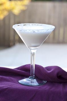 Here is the recipe for a Gooey Butter Cake Martini: 1 oz Cake flavored vodka 1 oz Godiva White Chocolate Liqueur 1/2 oz Frangelico 1/2 oz Amaretto 1/2 oz Butterscotch Schnapps In a shaker add ice and all of the ingredients above. Shake and strain your cocktail into a powder sugar rimmed martini glass.