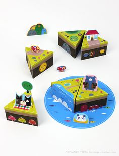 Paper island play set / free templates / Crowded Teeth for Mr Printables
