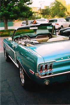 My dream car.  Only I'd prefer buttercream yellow.    Classic Mustang