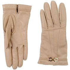 Salvatore Ferragamo Gloves ($308) ❤ liked on Polyvore featuring accessories, gloves, beige, beige leather gloves, leather gloves, salvatore ferragamo and beige gloves