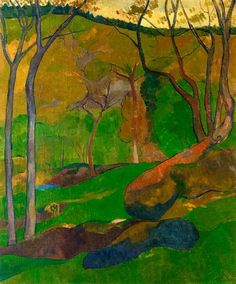 Paul Sérusier (Fr. 1864 - 1927), Sous-Bois au Huelgoat, 1905, huile sur toile, 72,71 x 59,37 cm, collection particulière