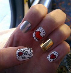 nail art inspiration from Nicholas Kirkwood - Keith Haring shoe collection