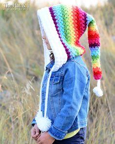 CROCHET PATTERN  Over the Rainbow Hood  a crochet fairy hood