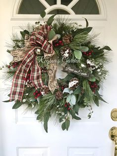 Christmas Wreath for Front Door-Winter Wreath-Holiday | Etsy