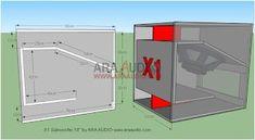 Skema Box Subwoofer X1 | ARA AUDIO Diy Subwoofer, Subwoofer Box Design, Speaker Box Design, Audio Amplifier, Audio Speakers, Rcf Audio, All Music Instruments, Speaker Plans, Loudspeaker
